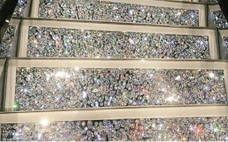 Swarovski crystal stairs