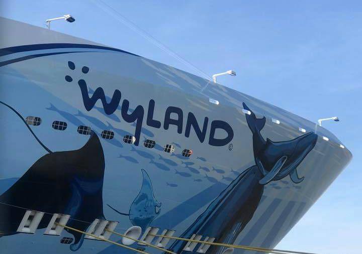 Wyland artwork on the hull of Norwegian Bliss