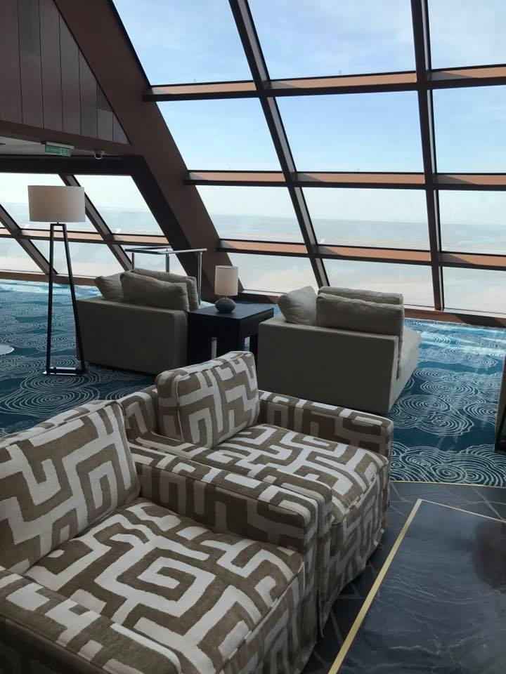 Voew from the Observation Lounge on Norwegian Bliss