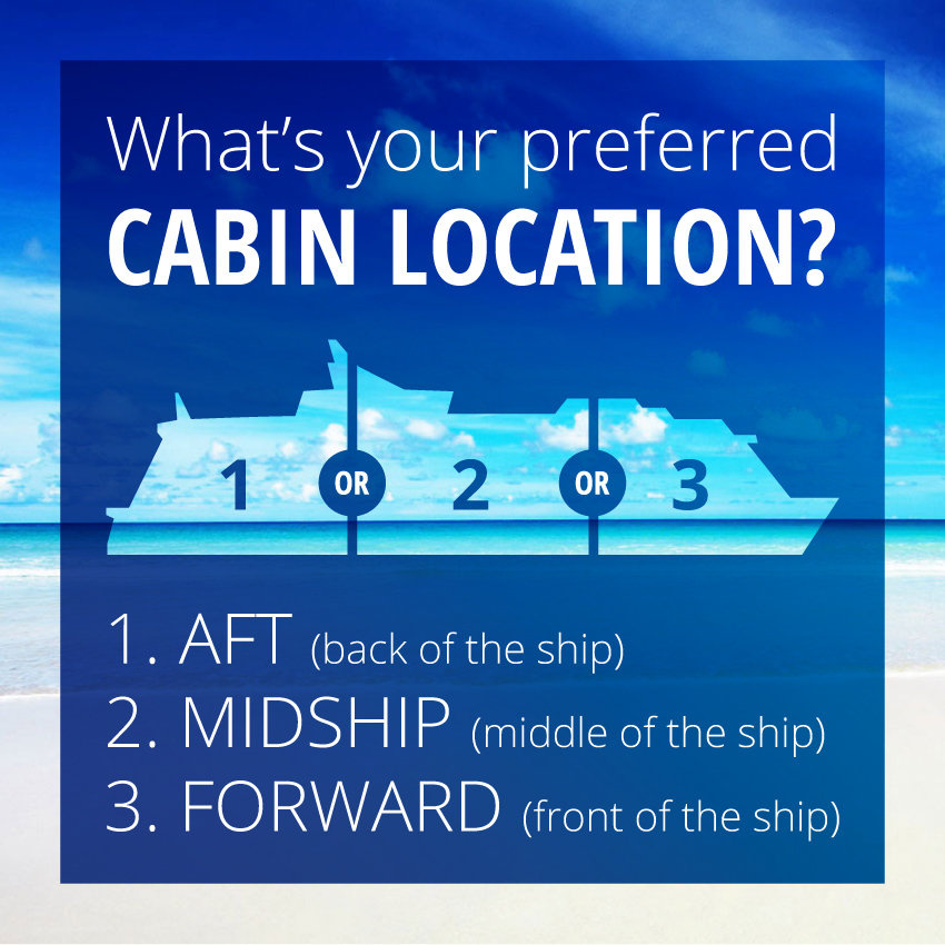 How to find the best cabin locations on a cruise ship