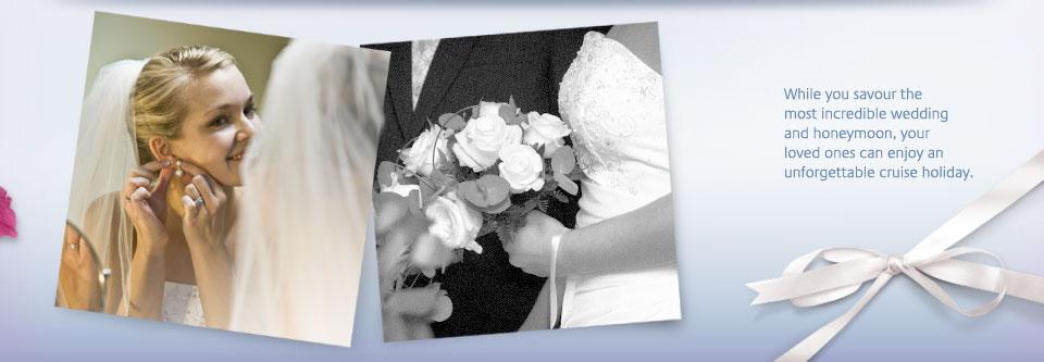 cruise line wedding and honeymoon brochure