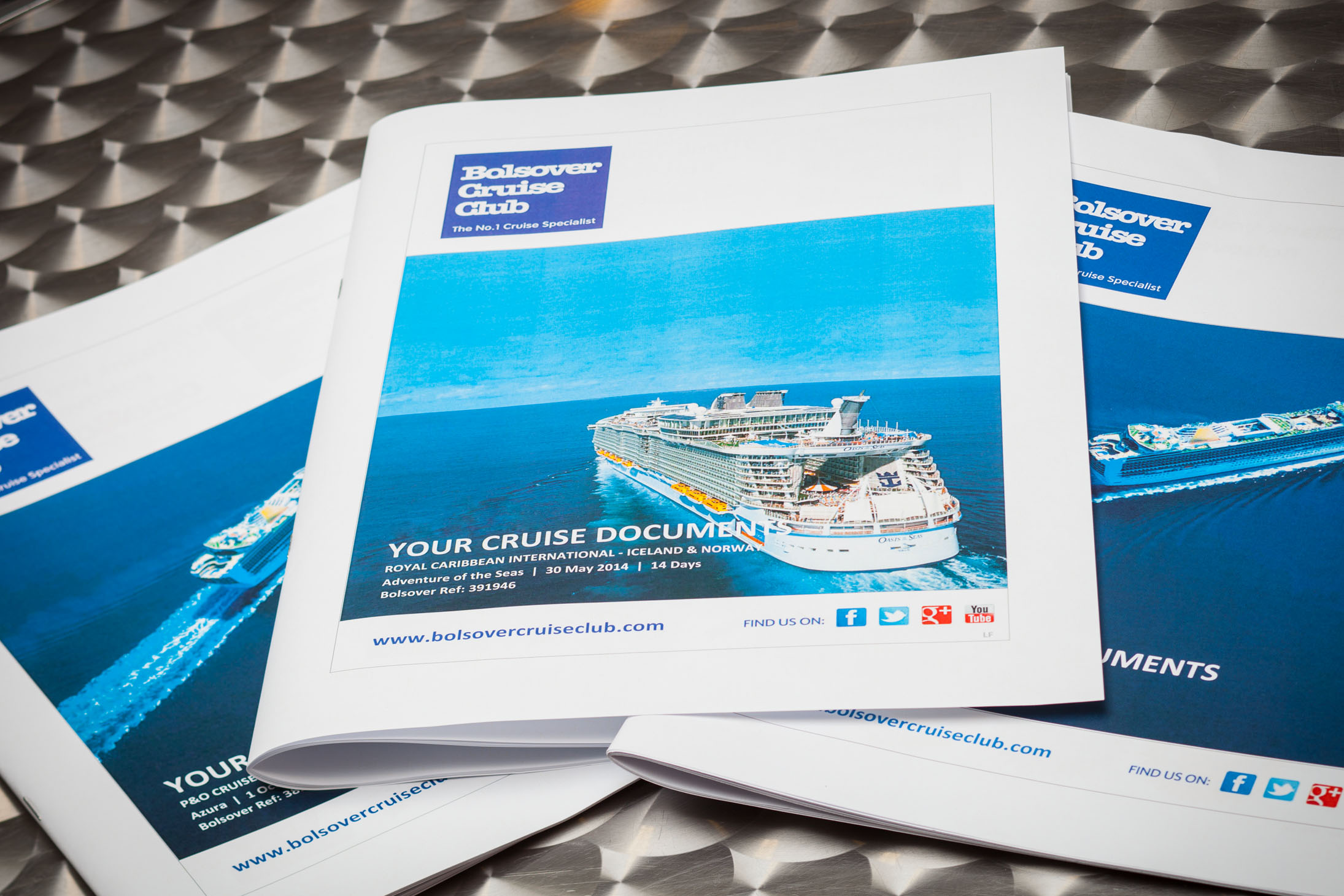 Bolsover Cruise Club cruise documents folder, which you will receive upon booking a cruise with us.