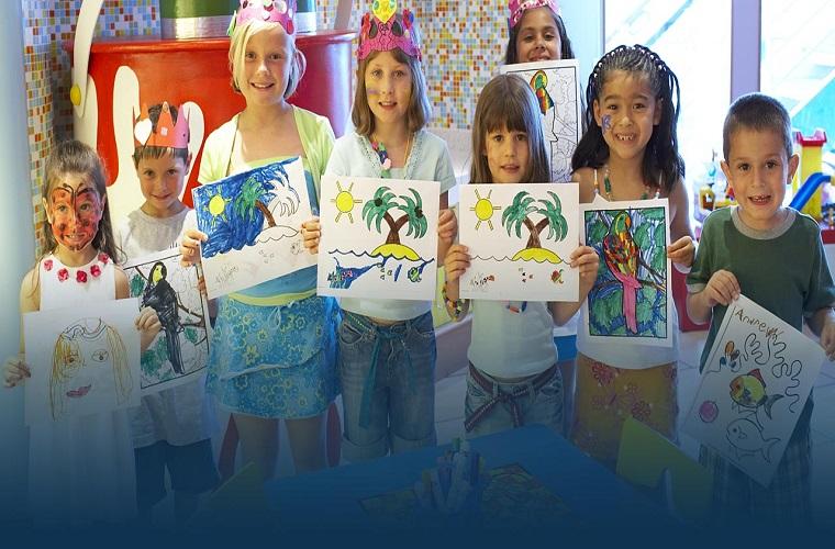 Kids on board Princess Cruises