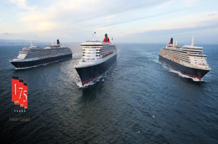 The Three Queens of the Cunard fleet