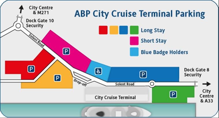 ABP City Cruise Terminal Parking map