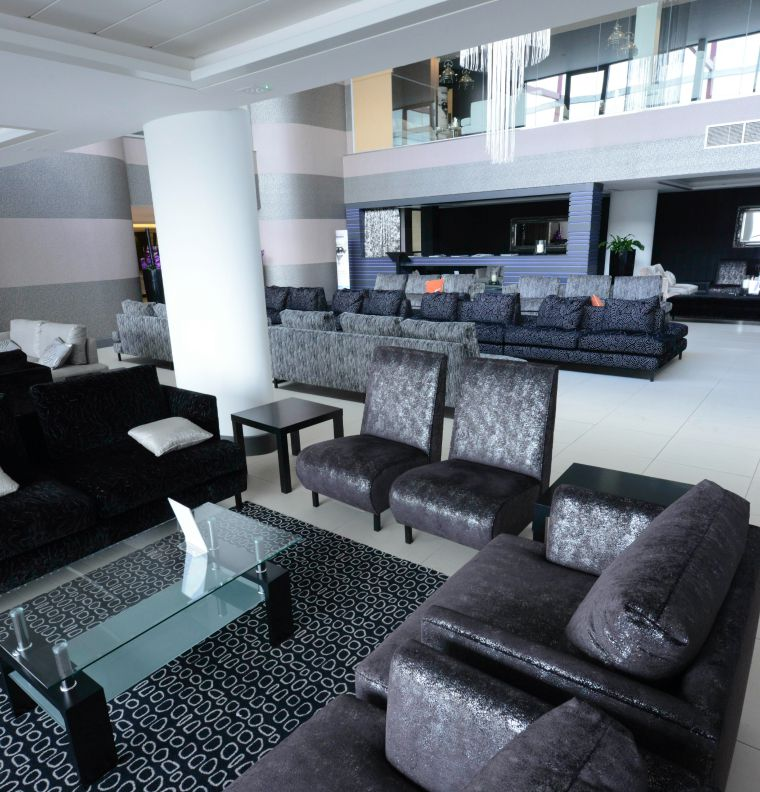 Stanstead Airport private jet terminal lounge area