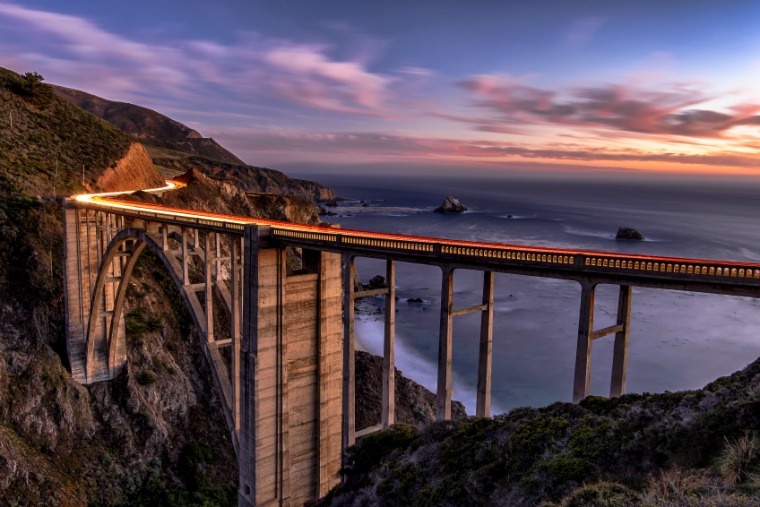 Highway 1 sunset, California