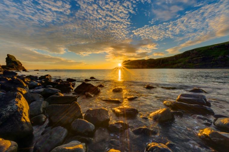 Sun set scenery of the Inner Hebrides