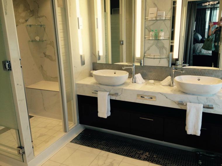 Norwegian Escape Owner's Suite bathroom