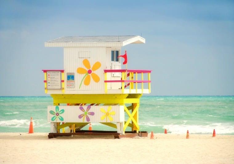 Miami Beach's lifeguard stands