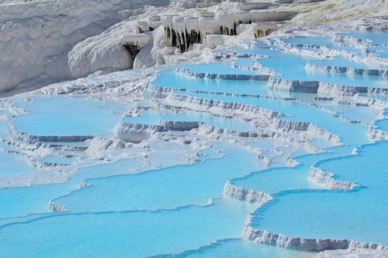 Pamukkale thermal pools, located near Denizli - Turkey