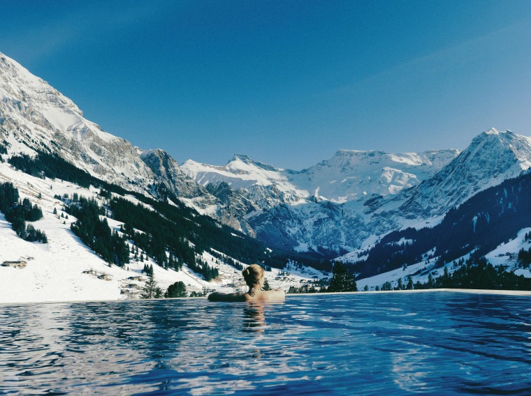 The Cambrian swimming pool in Switzerland