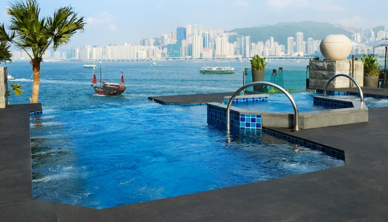 InterContinental Hotel swimming pool - Hong Kong