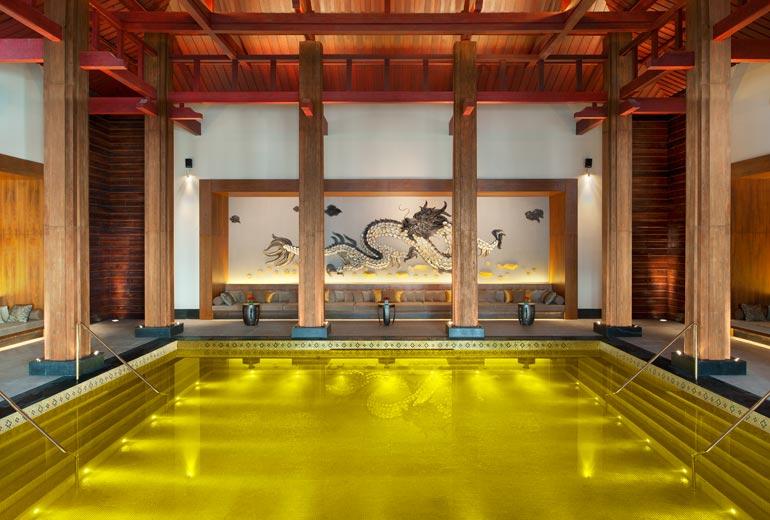 Golden Energy Pool at St Regis Thasa Resort – Tibet