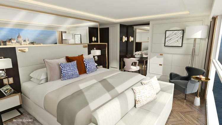 Crystal River Cruises accommodation artists concept design