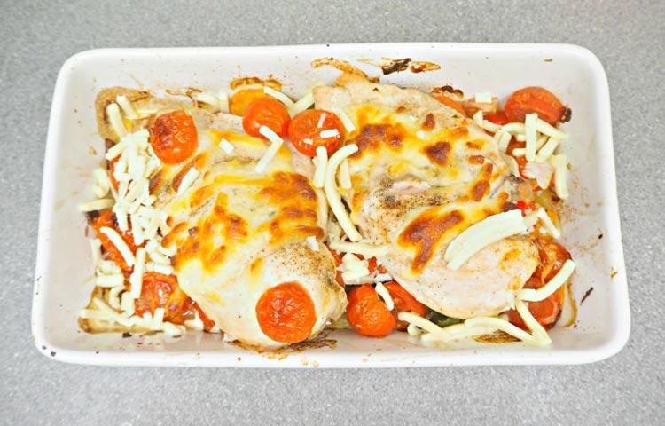 creamy mozzarella and fresh chicken breasts