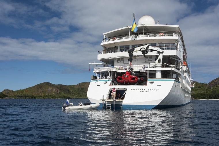 Marina on board Crystal Esprit
