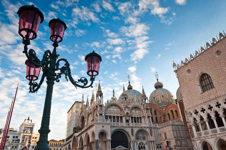 A view of Basilica San Marco in Venice