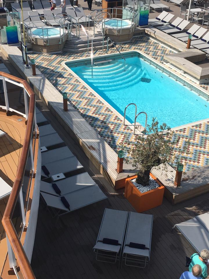 ms Koningsdam open deck and pool areas