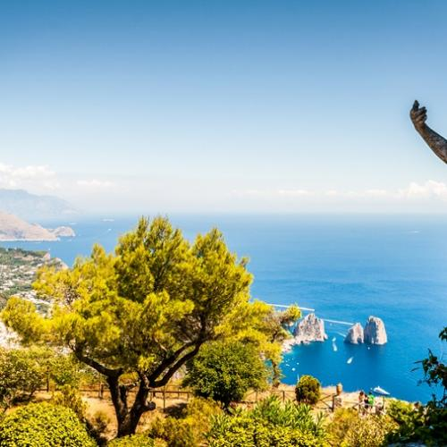 Scenic view of Capri, Naples, Italy Cruise Holidays
