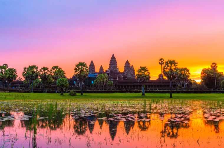 Angkor Wat before sunrice, Cambodia