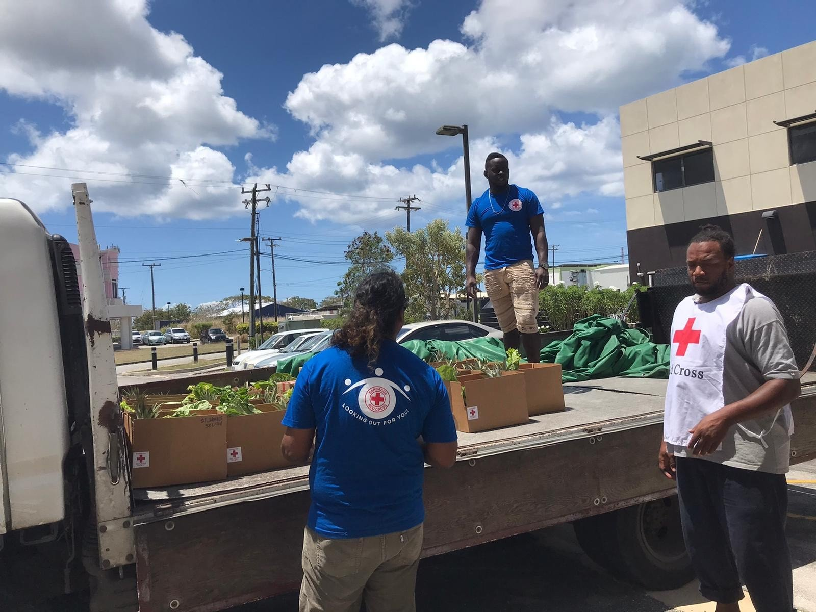 Fred Olsen food donation to Red Cross in Barbados