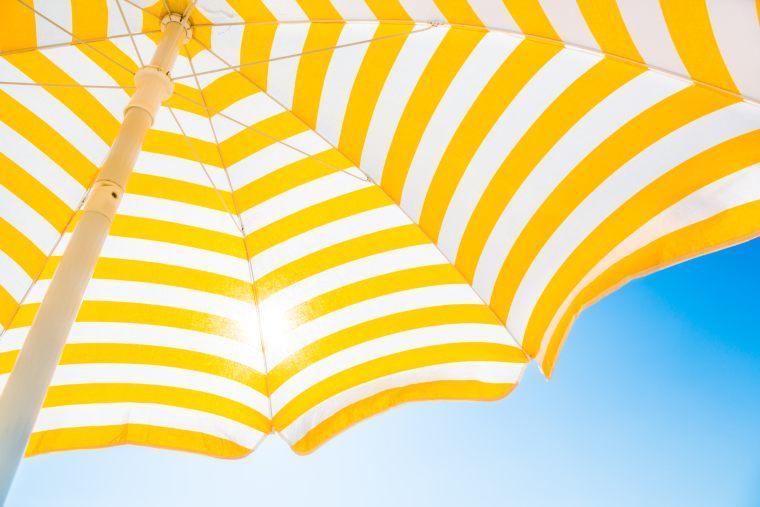 Beach umbrella for sun protection