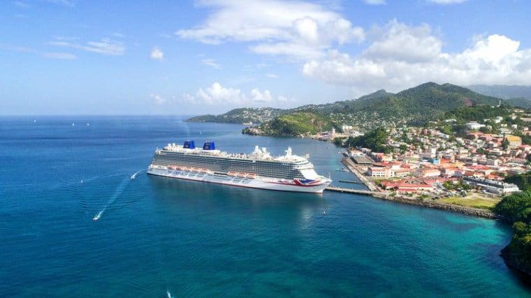 Britannia, P&O Cruises, Caribbean view,