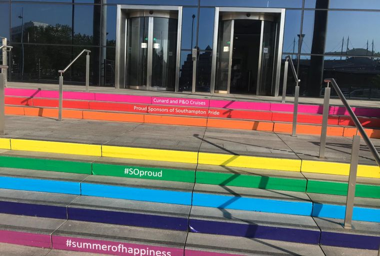 Carnival House Southampton Pride stairs