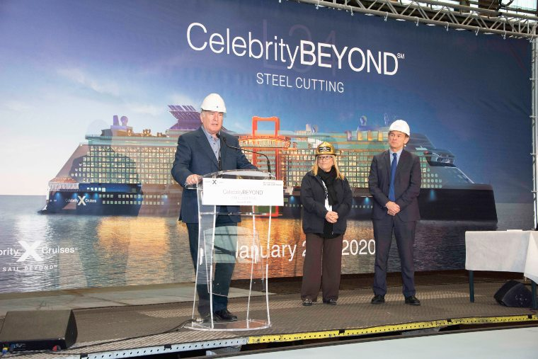 Celebrity Cruises steel cutting for Celebrity Beyond