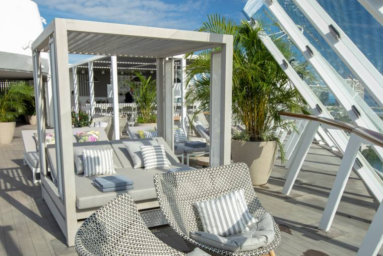 Celebrity Edge Retreat Sundeck Cabanas
