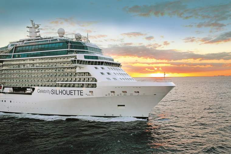 Celebrity Silhouette ship at sea