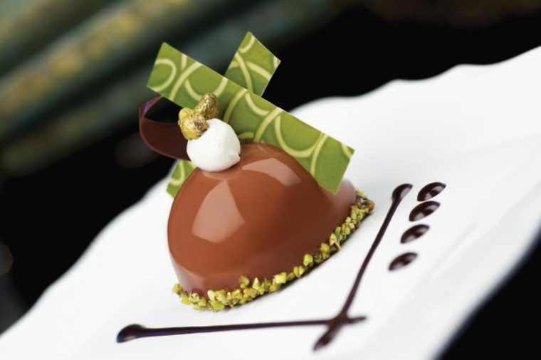Chocolate Pistachio Dome and Pistachio Nougatine, Princess Cruises Chocolate Journey
