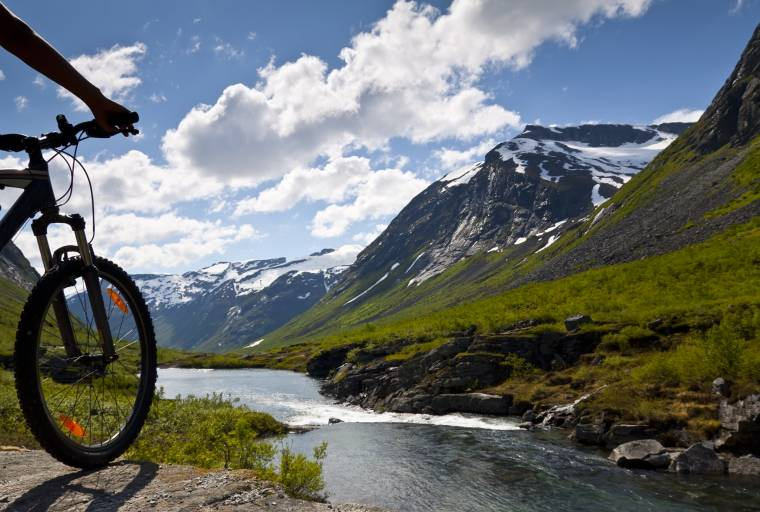 Cycling in Geiranger