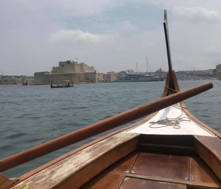 Dgħajsa, a traditional water taxi from Malta