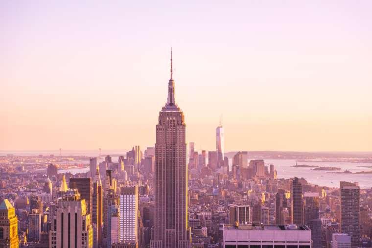 Empire State Building from Rockafeller Center, New York