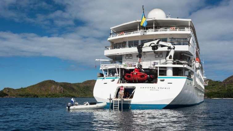 Crystal Cruises Esprit view and Marina
