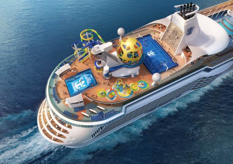 Exterior view of the revamped Independence of the Seas