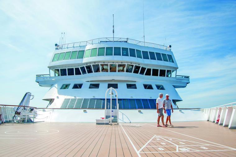 The bow of Braemar, The Bridge, Fred Olsen Cruise Line