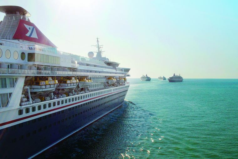 Fred Olsen Cruise Ship fleet at sea