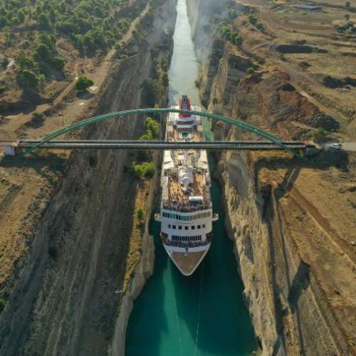 Fred. Olsen Cruise Lines cruise ship Braemar in the Corinth Canal