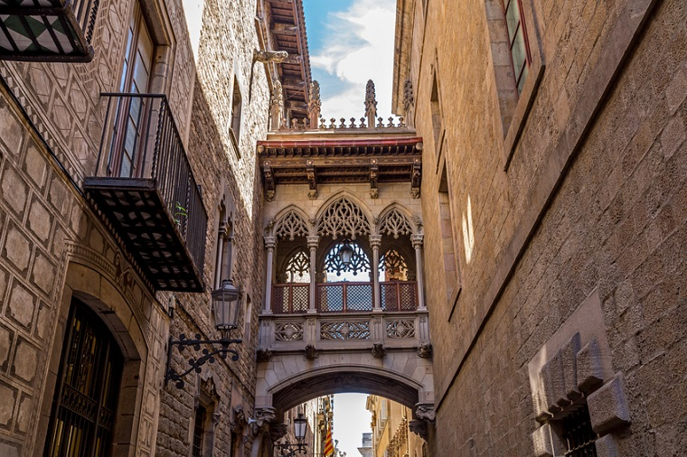 The Barri Gotic, also known as Gothic Quarter