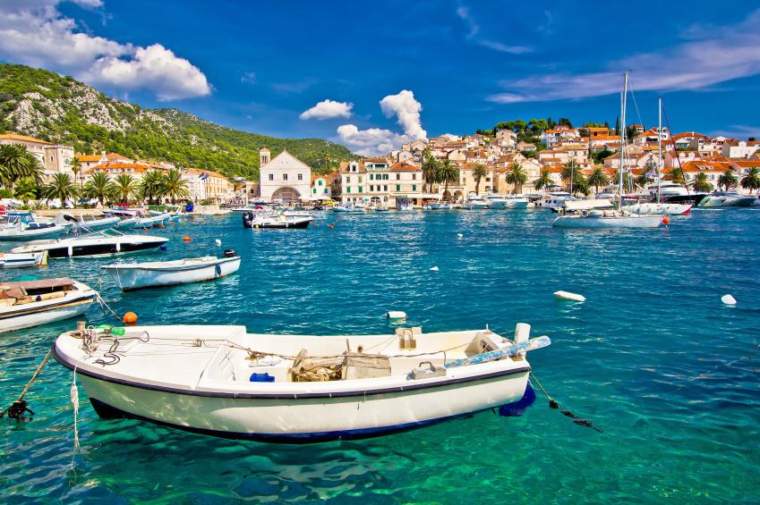 Amazing town of Hvar waterfront view, Dalmatia, Croatia