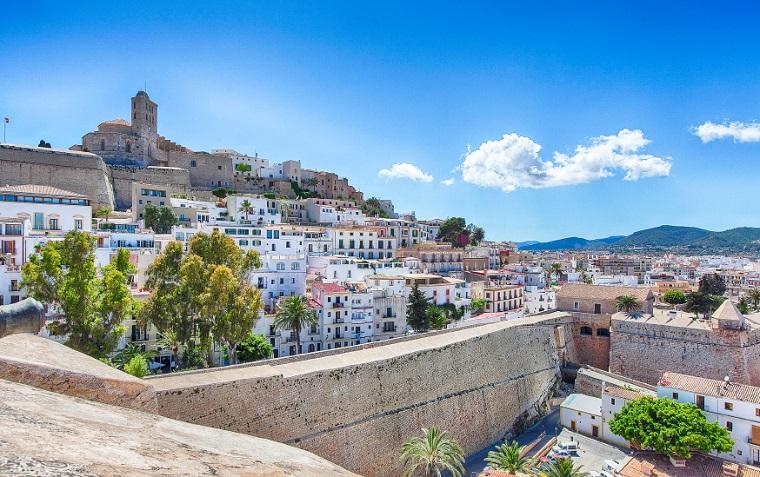 Ibiza old towncity