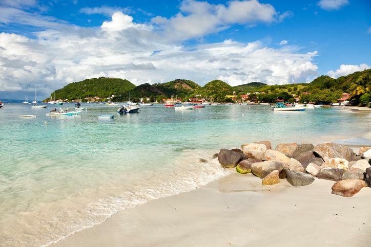 The beach of Terre-de-haut, Les Saintes, Guadeloupe archipelago