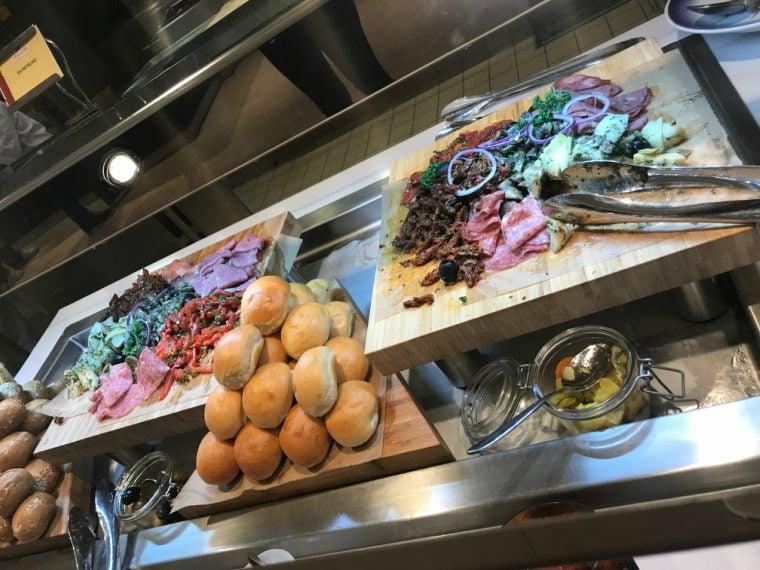 The Garden Café buffet on Norwegian Bliss