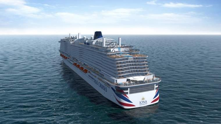 P&O Cruises Iona Aft view