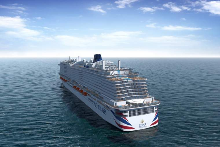 P&O Cruises Iona Aft view