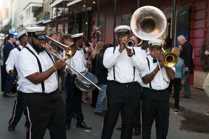 Bourbon Street band New Orleans