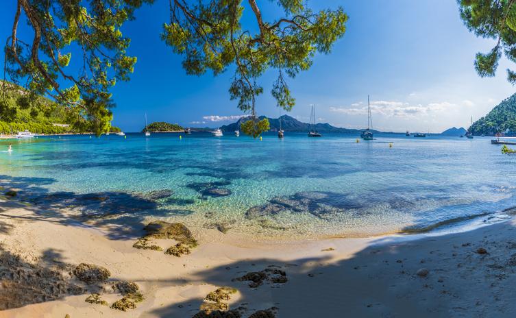 Beach on Palma island